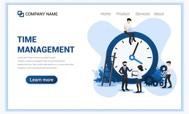 Bedrijfsbeheer met mensen die een planning plannen. tijdbeheer, bespaar tijd.