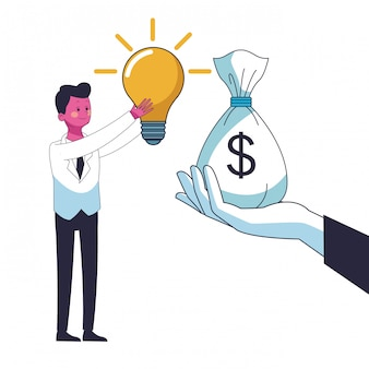 Bedrijfsbesparende geld cartoon