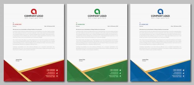 Bedrijfsbriefpapier | creatieve briefpapier template