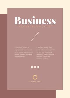 Bedrijfsbrochure en postersjabloon