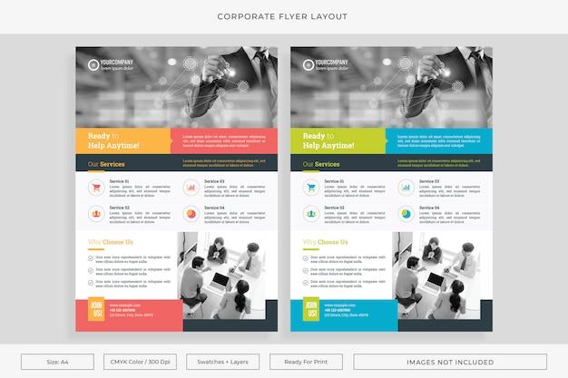 Bedrijfsbrochure lay-out