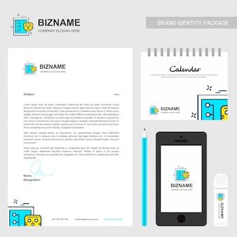 Bedrijfsbrochure met bedrijfslogo en stijlvol design