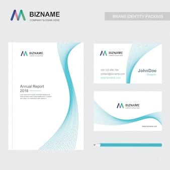 Bedrijfsbrochure met elegant ontwerp en ook met m-logo