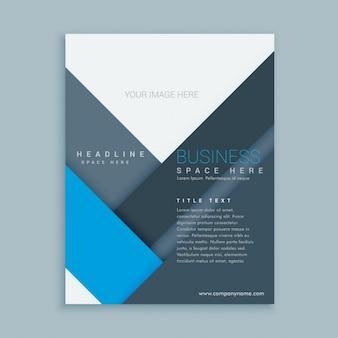 Bedrijfsbrochure sjabloon met minimalistische vormen