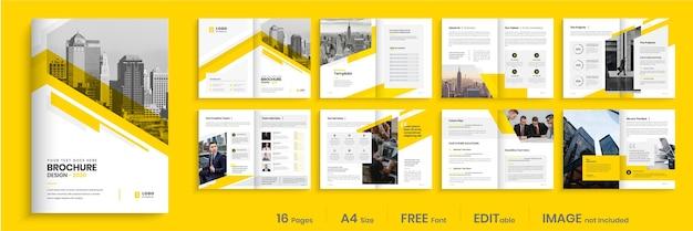Bedrijfsbrochure sjabloonontwerp, creatieve zakelijke brochure sjabloon lay-out