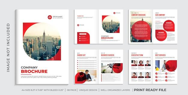 Bedrijfsbrochuresjabloon of brochureontwerp met meerdere pagina's