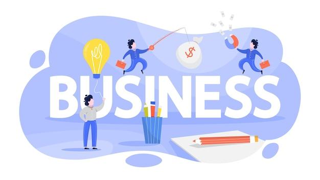 Bedrijfsconcept. idee van project en workflow