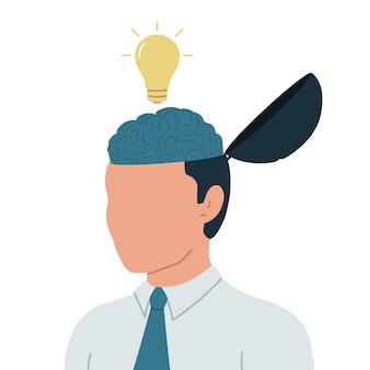 Bedrijfsconcept van het genereren van ideeën