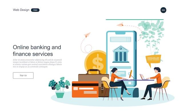 Bedrijfsconcept voor online bankieren