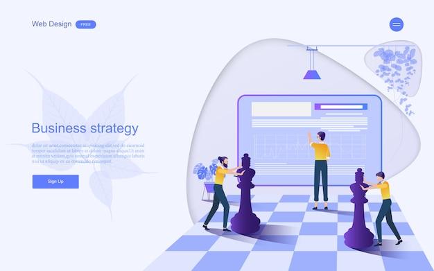Bedrijfsconcept voor strategiemarketing.