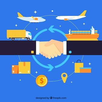Bedrijfsconceptenachtergrond met overeenkomst