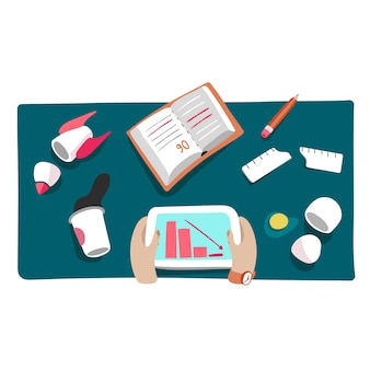 Bedrijfscrisis of startneerstortingillustratie van financieel ontbreekt en marktdaling