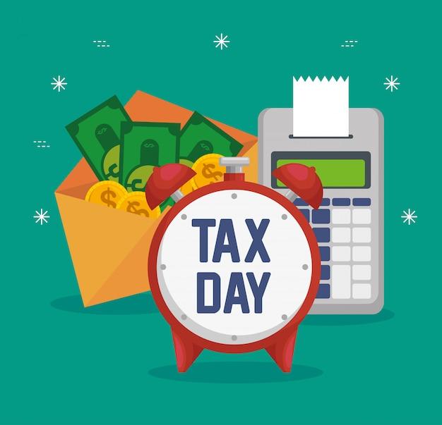 Bedrijfsdatafoon financieel met rekeningen en muntstukken