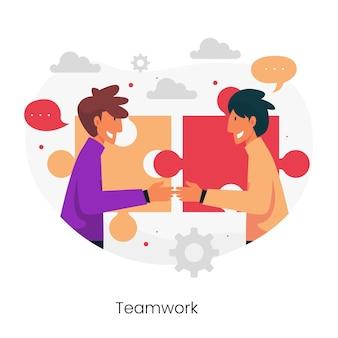 Bedrijfsethiek concept illustratie
