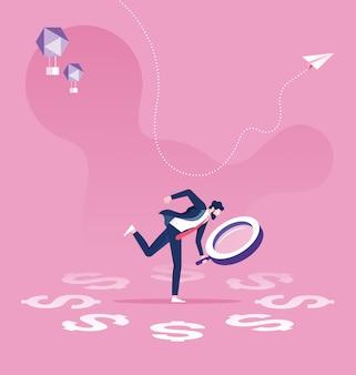 Bedrijfsfinanciële audit concept