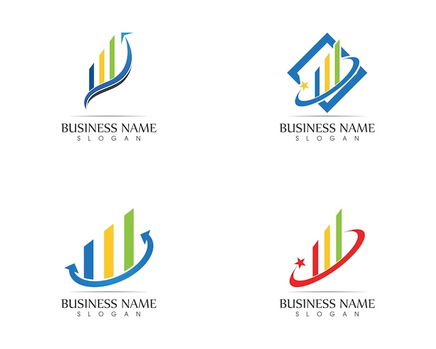 Bedrijfsfinanciënembleem - vectorconceptenillustratie