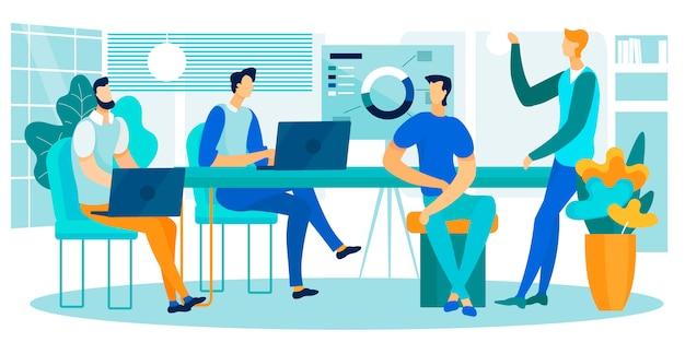 Bedrijfsgegevens teamwork samenwerking gegevensanalyse