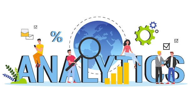 Bedrijfsgegevensanalyse en analyseconceptenillustratie