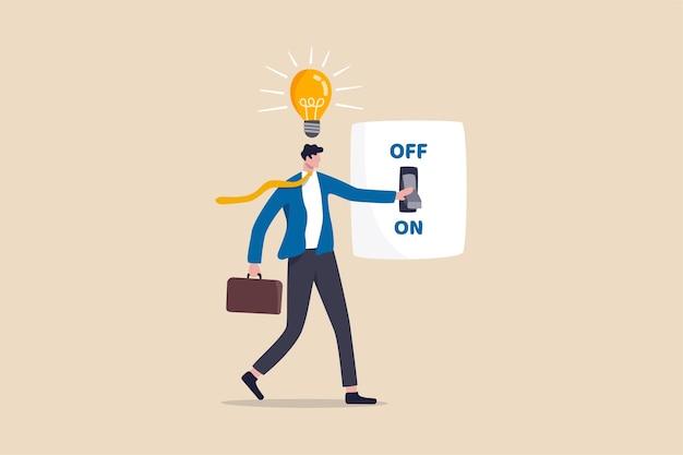 Bedrijfsidee en oplossing om het bedrijfsprobleem of innovatie en strategie op te lossen om zakelijk succesconcept te winnen