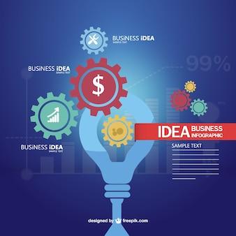 Bedrijfsidee gratis vector infographics