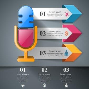 Bedrijfsillustratie - infographic microfoon.