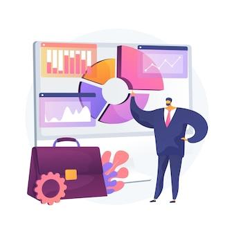 Bedrijfsinformatiesysteem abstracte concept illustratie