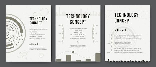 Bedrijfsjabloon. brochure ontwerp, omslag moderne lay-out, jaarverslag, poster, flyer. abstracte moderne achtergronden. mobiele technologieën, toepassingen, online services infographic concept. hud, techno, zaken, ui.