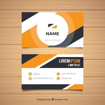 Bedrijfskaart in moderne stijl