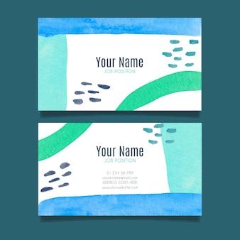 Bedrijfskaart sjabloon met handgeschilderde elementen