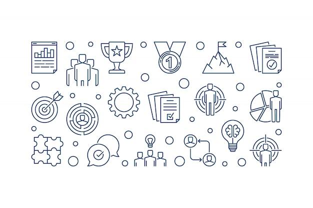 Bedrijfsleider concept pictogrammen.