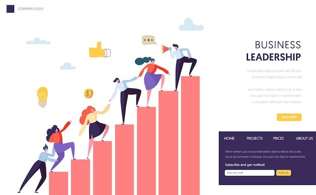 Bedrijfsleider help team bereiken website