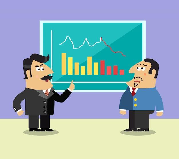 Bedrijfsleven aandeelhouder scene