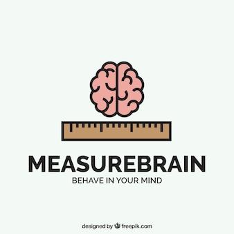 Bedrijfslogo met de hersenen en heerser
