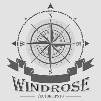 Bedrijfslogo met windrose