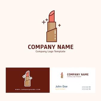 Bedrijfslogo ontwerp met naam op basis van moederdag vector