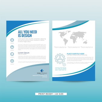 Bedrijfsmarketing brochuremalplaatje