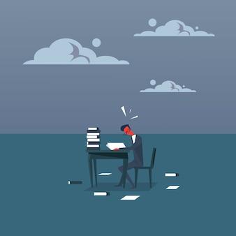Bedrijfsmens bezig met administratie