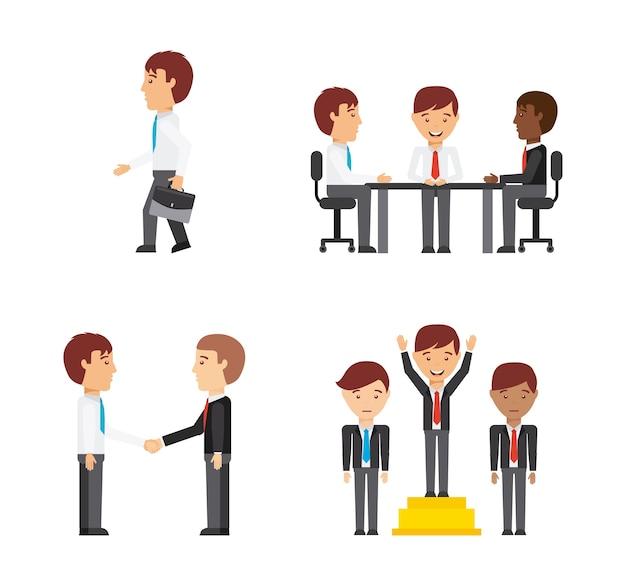 Bedrijfsmensen ontwerp