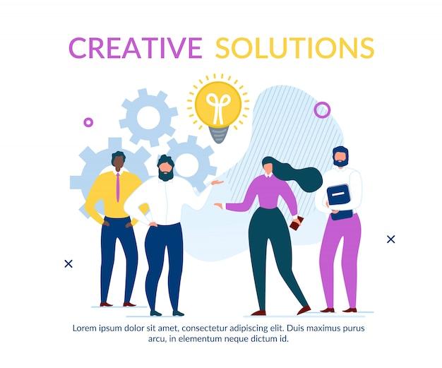 Bedrijfsmensen team find solution text banner
