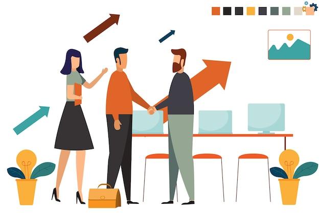 Bedrijfsmensenhanden schudden voor collectief aan partner, vennootschapconcept,
