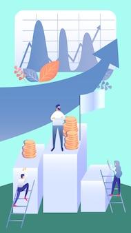 Bedrijfsontwikkeling strategie vlakke illustratie