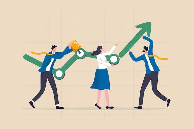 Bedrijfsontwikkelingsproces, plan of strategie om succes te behalen.