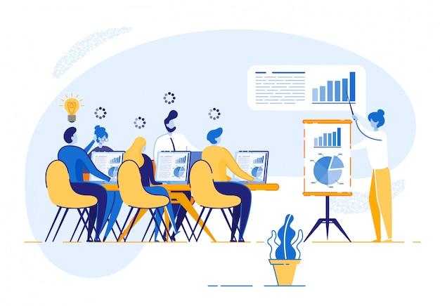 Bedrijfsopleiding voor werknemers van bedrijfsactiviteiten