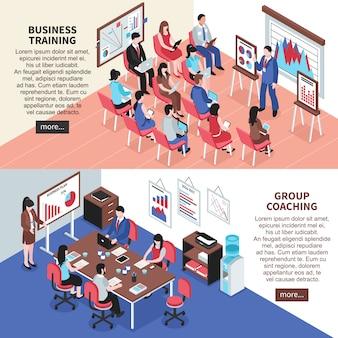 Bedrijfsopleidingen en groepscoachingsbanners