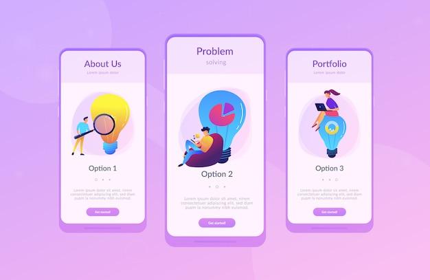 Bedrijfsoplossing app-interfacemalplaatje