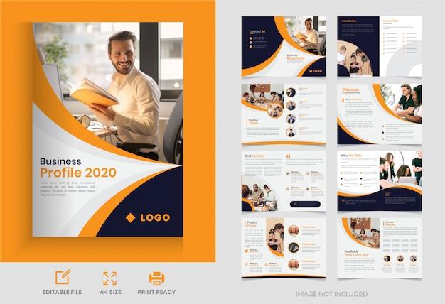 Bedrijfspagina zakelijke brochureontwerp