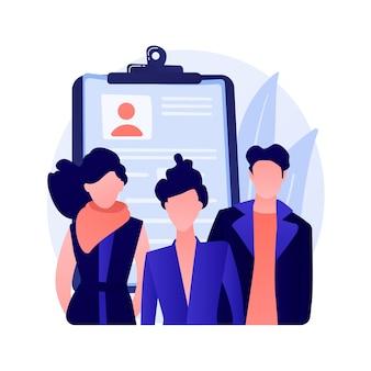 Bedrijfspersoneel, team van collega's. zakelijke partners, kantoorpersoneel, bedrijfsmedewerkers. multiculturele groep mensen geïsoleerde platte ontwerp element concept illustratie