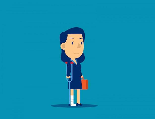 Bedrijfspersoon letsel. werknemer falen concept