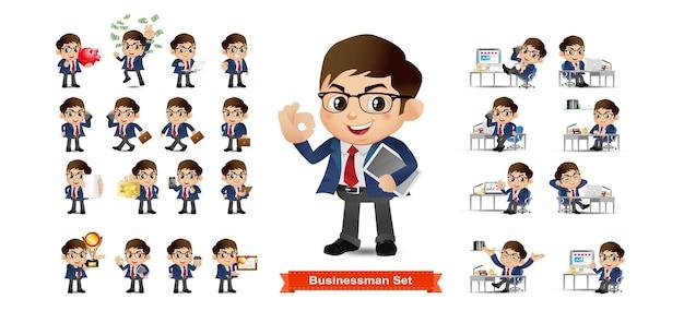 Bedrijfspersoon set kantoormedewerkers