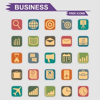 Bedrijfspictogrammen geplaatst vector